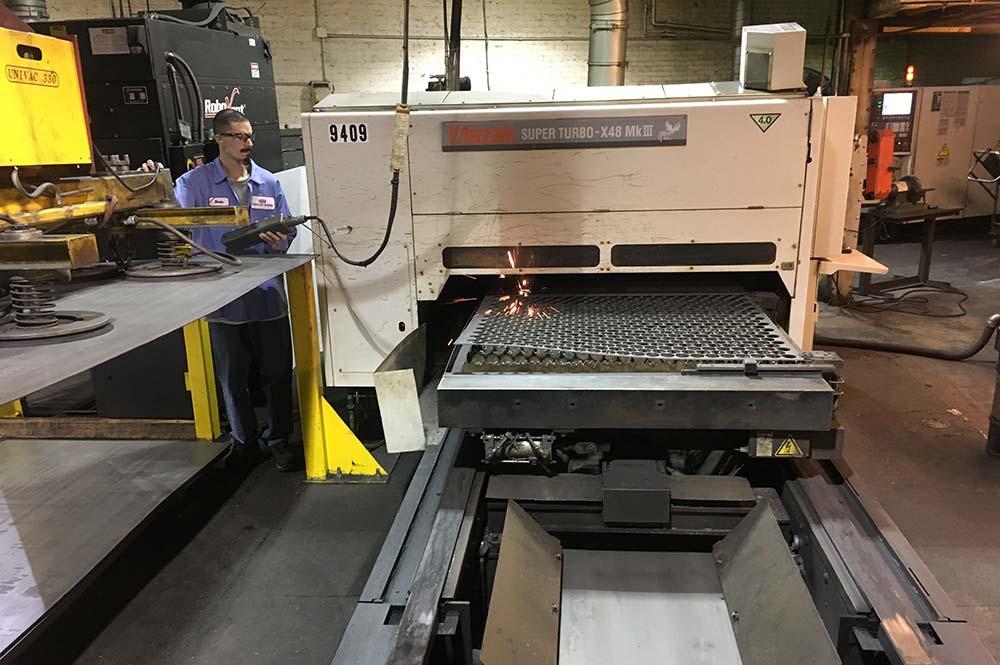 laser cutting, tooling, stamping, heat treating, machining